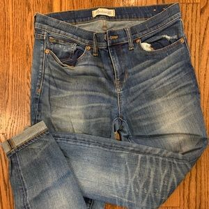 Madewell Distressed Light Wash Ankle Crop